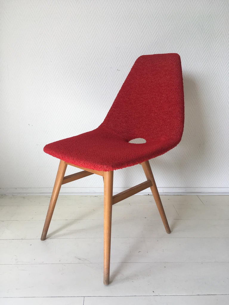 20th Century Midcentury Hungarian Chairs, Side Chairs by Judit Burian and Erika Szek, 1950s For Sale