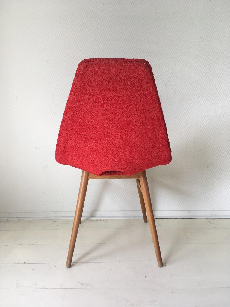 Midcentury Hungarian Chairs, Side Chairs by Judit Burian and Erika Szek, 1950s For Sale 1