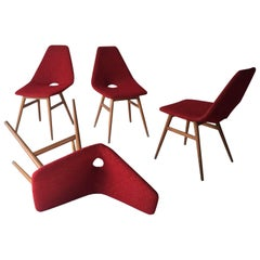 Midcentury Hungarian Chairs, Side Chairs by Judit Burian and Erika Szek, 1950s