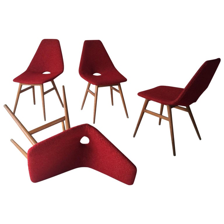 Midcentury Hungarian Chairs, Side Chairs by Judit Burian and Erika Szek, 1950s For Sale