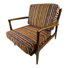 Mid-Century Ib Kofod-Larsen for Selig Walnut Lounge Chair