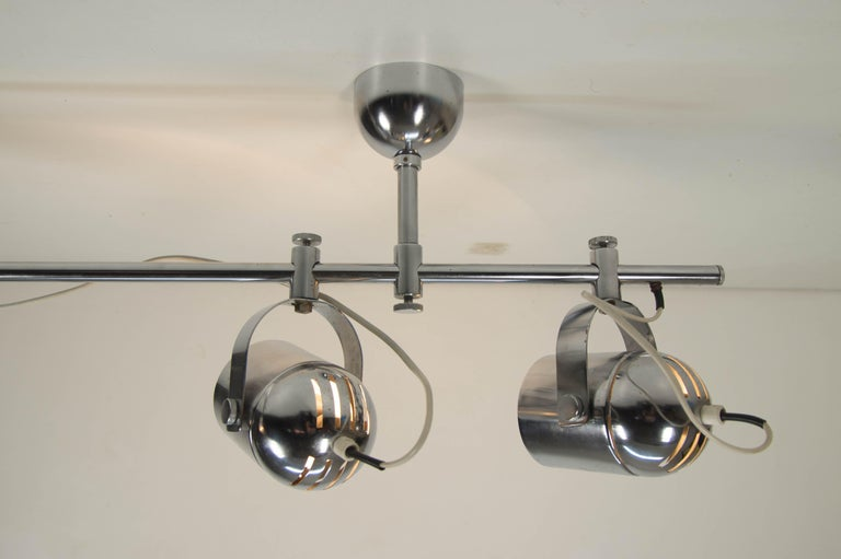 Late 20th Century Mid-Century Industrial Ceiling Light by Stanislav Indra for Lidokov, 1980s For Sale