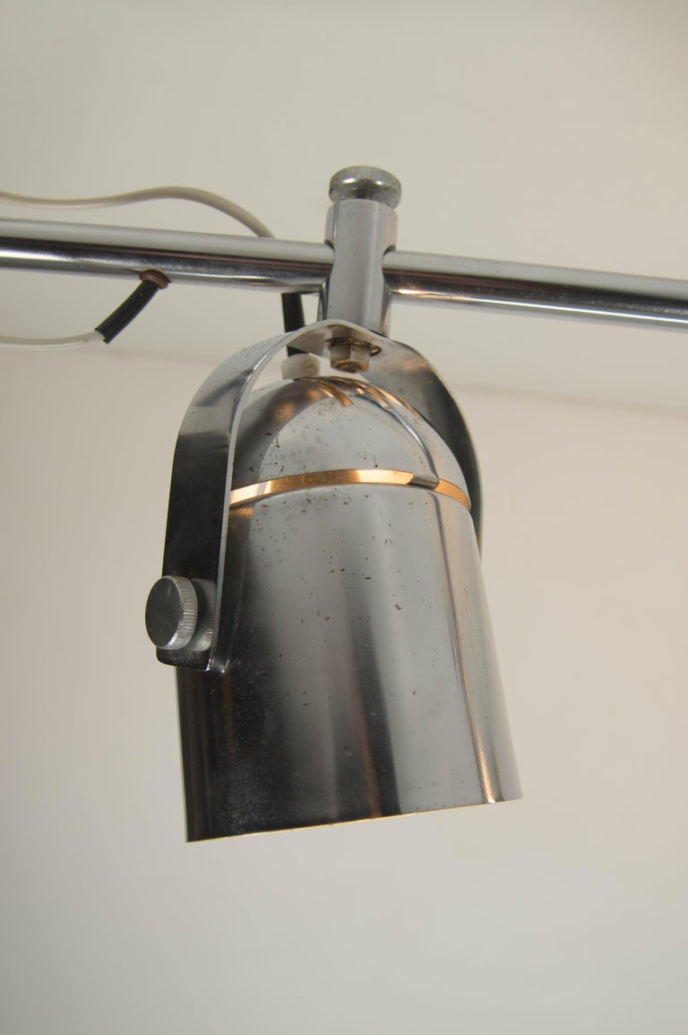 Chrome Mid-Century Industrial Ceiling Light by Stanislav Indra for Lidokov, 1980s For Sale