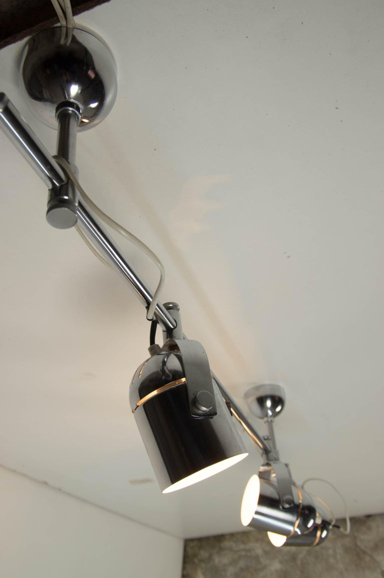 Mid-Century Industrial Ceiling Light by Stanislav Indra for Lidokov, 1980s For Sale 1