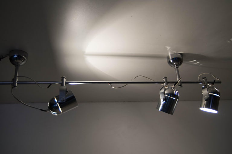 Mid-Century Industrial Ceiling Light by Stanislav Indra for Lidokov, 1980s For Sale 3