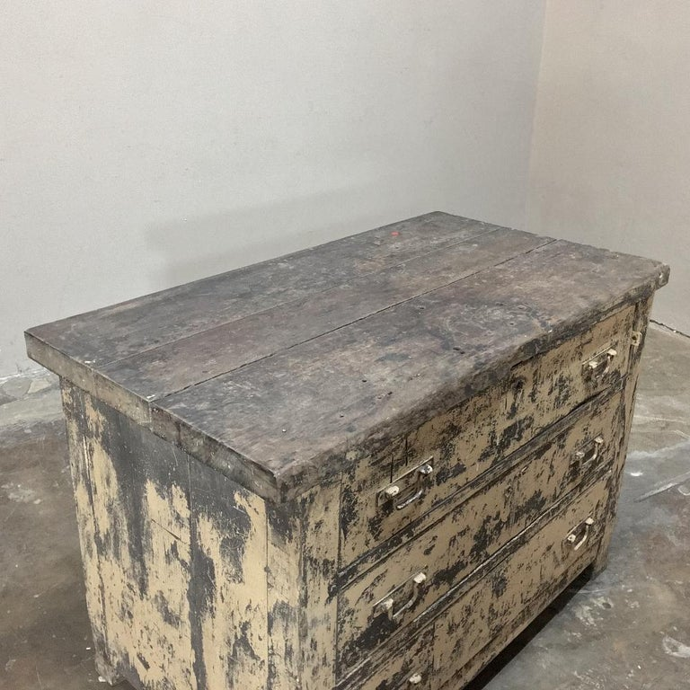 Mid-century Industrial Chest of Drawers For Sale 2