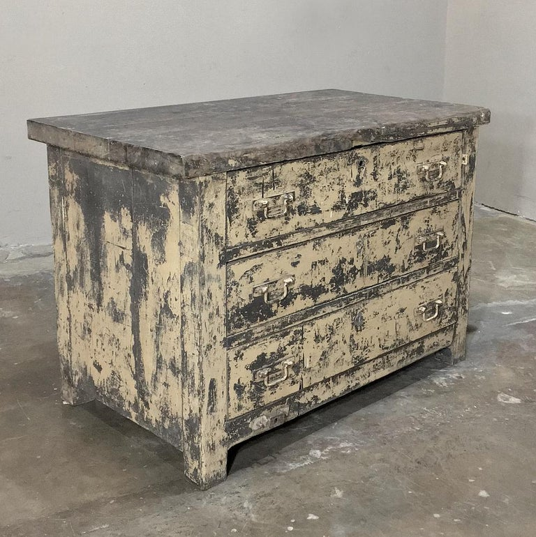 Belgian Mid-century Industrial Chest of Drawers For Sale