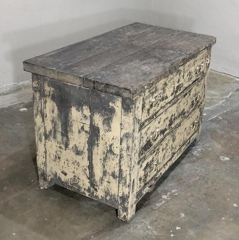 Hand-Crafted Mid-century Industrial Chest of Drawers For Sale