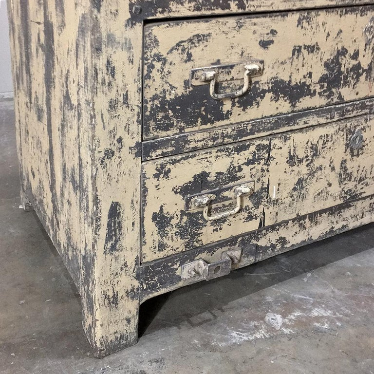 20th Century Mid-century Industrial Chest of Drawers For Sale