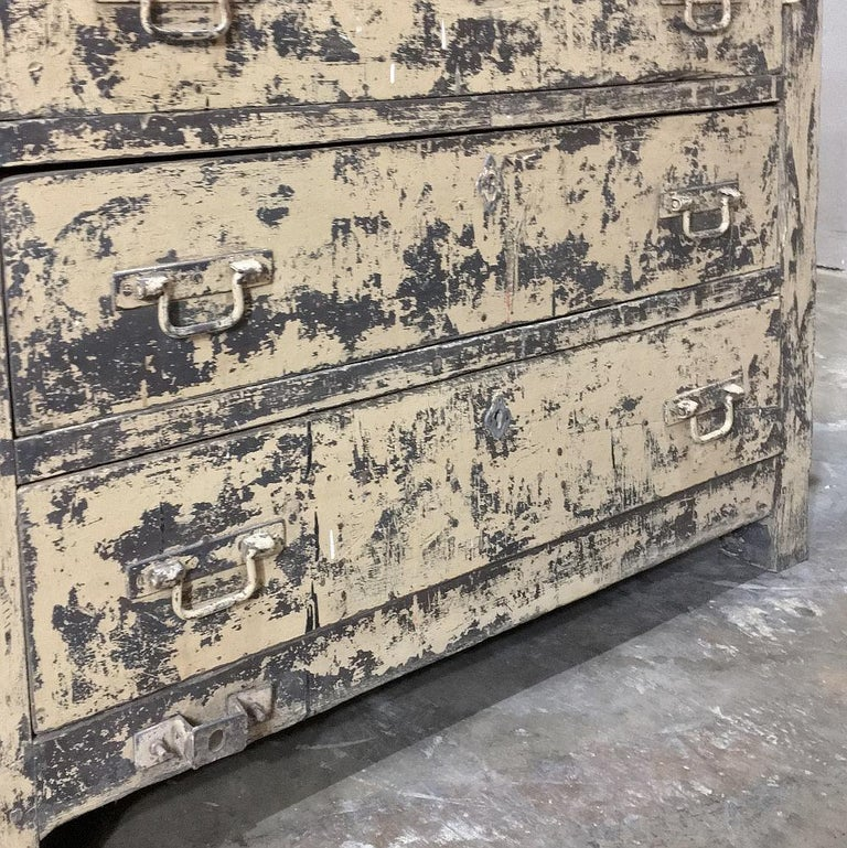 Steel Mid-century Industrial Chest of Drawers For Sale