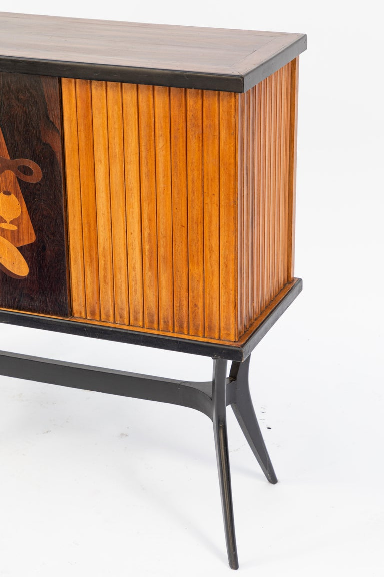 Mid-Century Inlaid Bar For Sale 2
