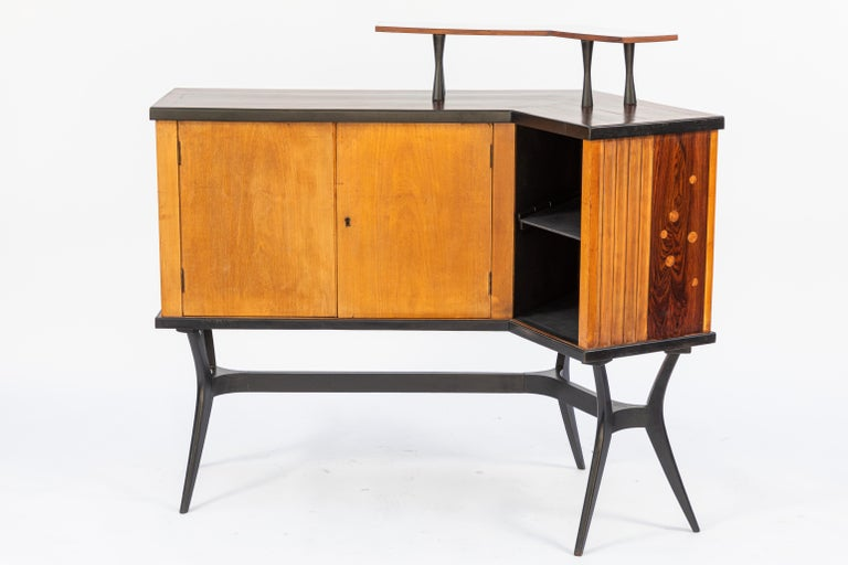 Mid-Century Inlaid Bar For Sale 5