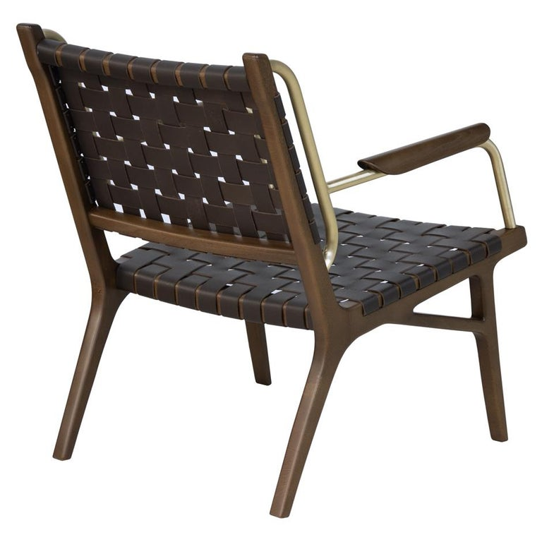 Modern Mid-Century Inspired Lounge Chairs, Set of 2 For Sale