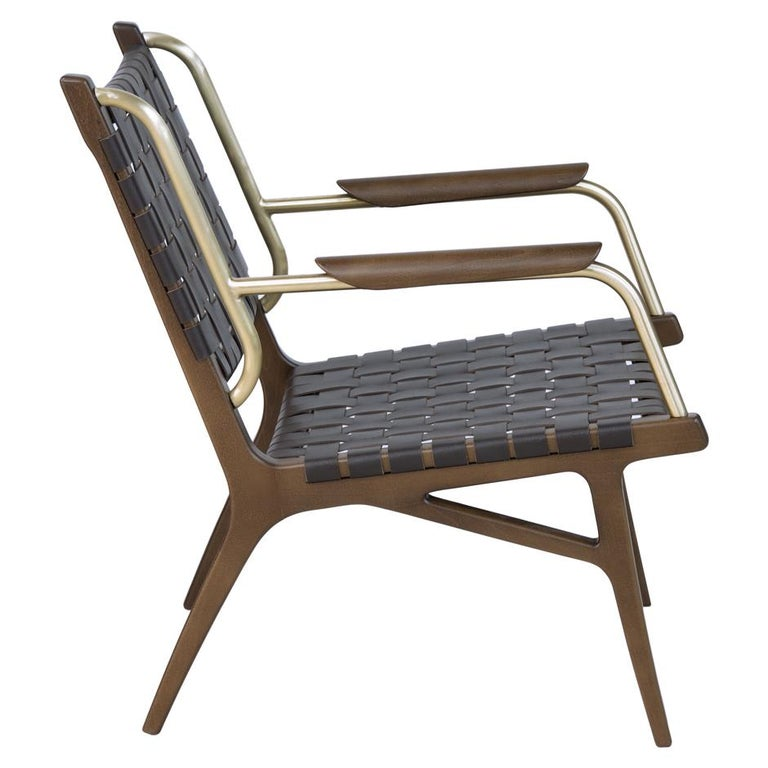 Portuguese Mid-Century Inspired Lounge Chairs, Set of 2 For Sale