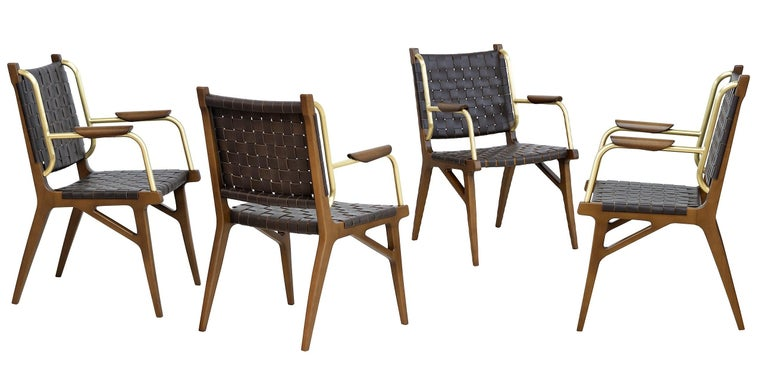 Mid-Century Inspired Lounge Chairs, Set of 2 In New Condition For Sale In New York, NY