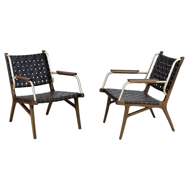 Mid-Century Inspired Lounge Chairs, Set of 2 For Sale