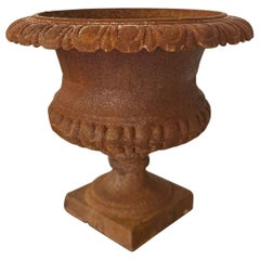 Midcentury Iron Finish Urn