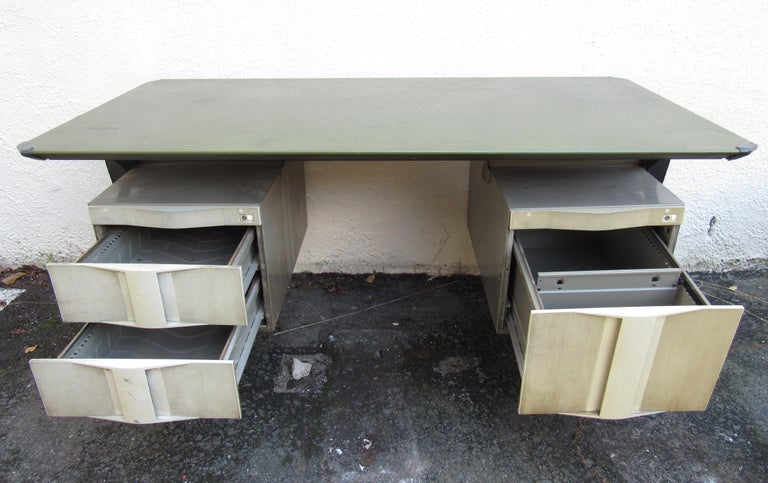 Mid-20th Century Midcentury Italian Arco Desk by BBPR for Olivetti Synthesis For Sale