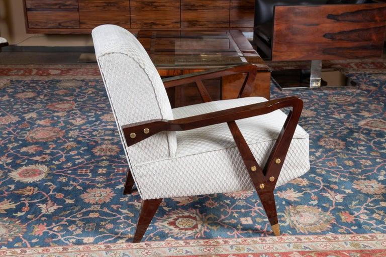 Mid-Century Modern Mid-Century Italian Armchairs in Walnut For Sale