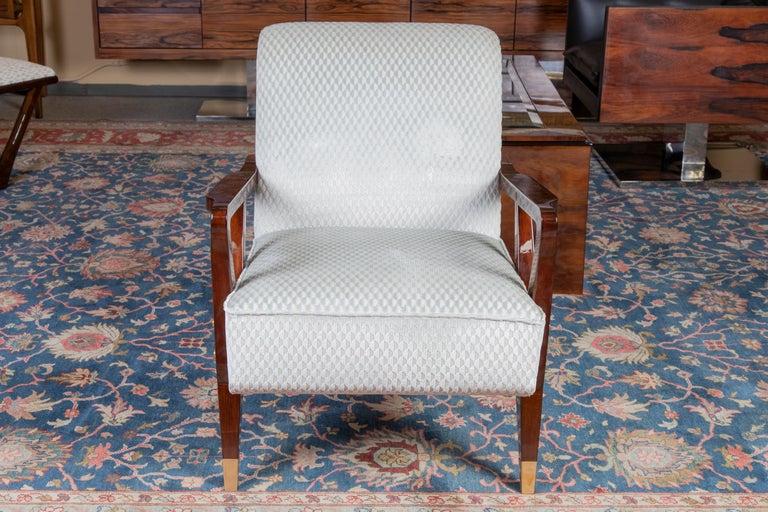 Mid-20th Century Mid-Century Italian Armchairs in Walnut For Sale