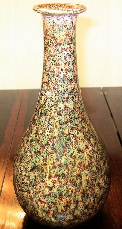 Midcentury Italian Art Pottery Vase by Bizzirri For Sale 3