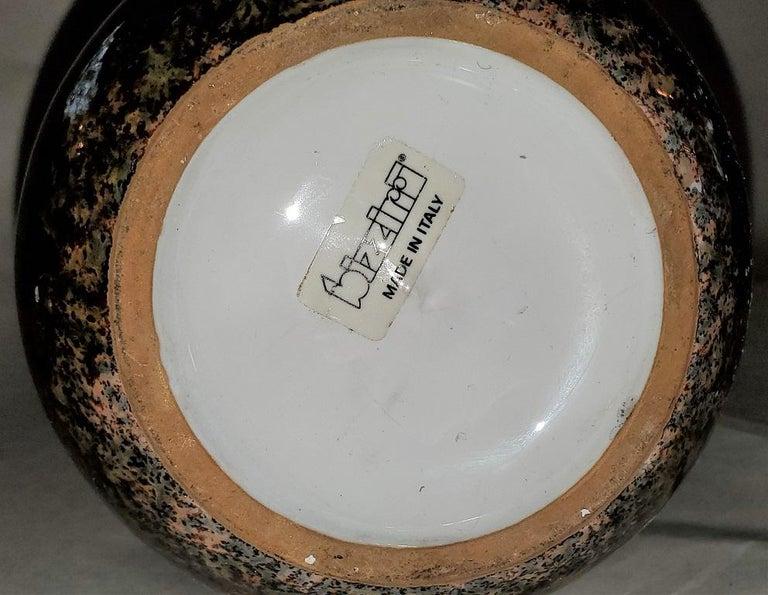 20th Century Midcentury Italian Art Pottery Vase by Bizzirri For Sale