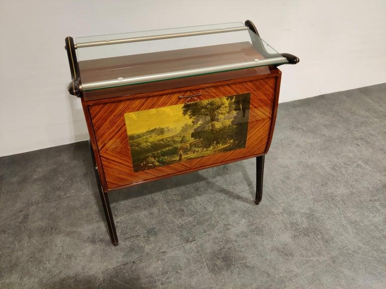 Midcentury Italian Bar Cabinet, 1960s For Sale 2
