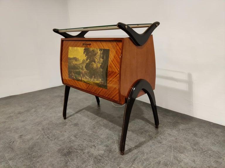 Midcentury Italian Bar Cabinet, 1960s For Sale 3