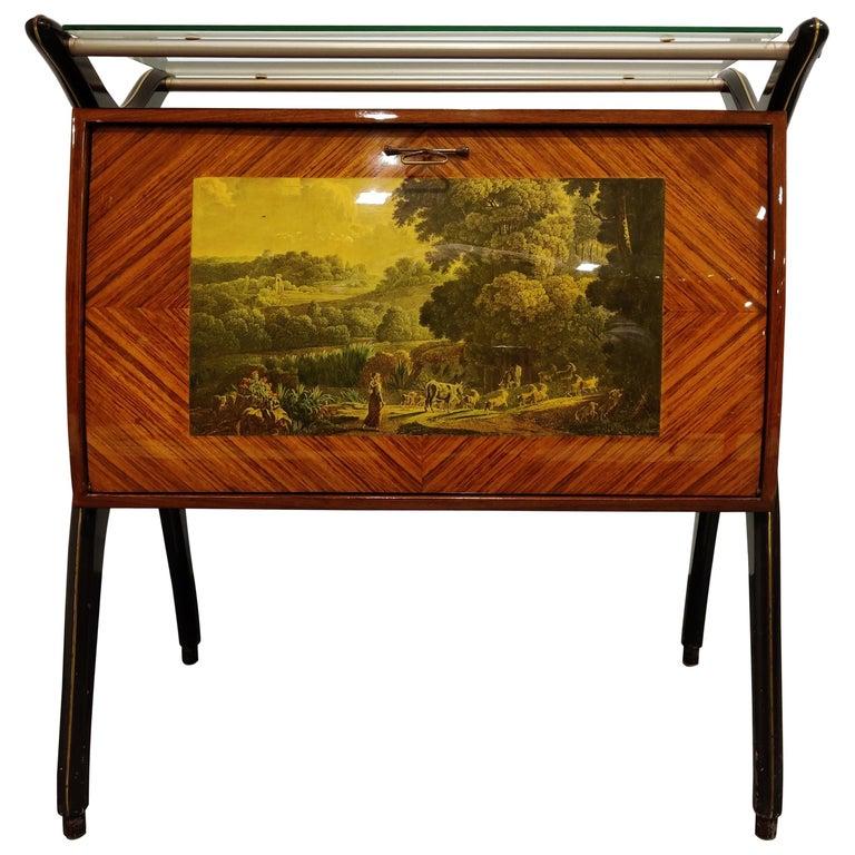 Midcentury Italian Bar Cabinet, 1960s For Sale