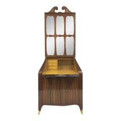 Midcentury Italian Bureau Bookcase Trumeau by Paolo Buffa
