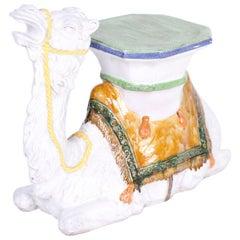 Midcentury Italian Camel Garden Seat