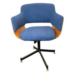 Mid-Century Italian Carlo Ratti Swivel Desk Chair