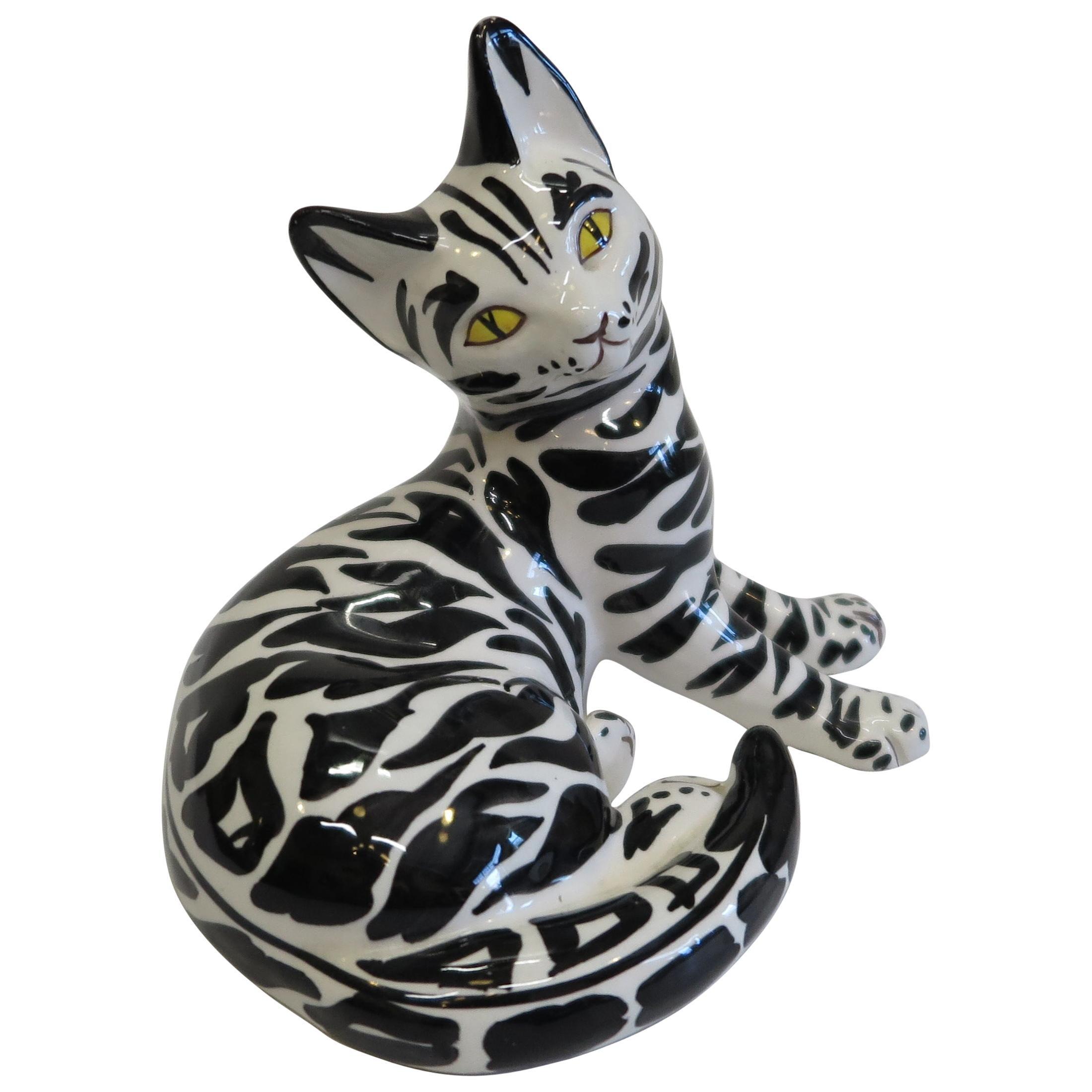 Mid Century Italian Ceramic Cat