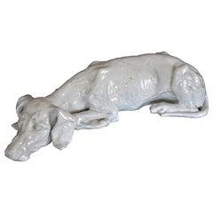 Mid-Century Italian Ceramic Dog Sculpture