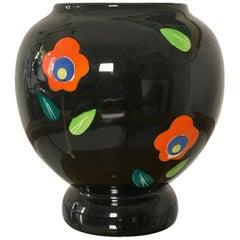 Mid Century Italian Ceramic Vase, Signed and Numbered Deruta, Perugia