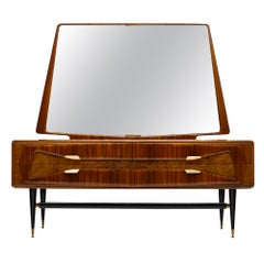 Midcentury Italian Chest with Mirror