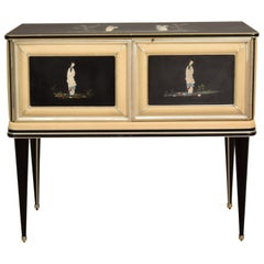 Midcentury Italian Chinoiserie Sideboard by Umberto Mascagni for Harrods, 1950s