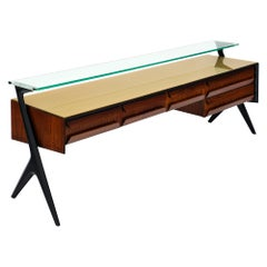 Midcentury Italian Console Table in the Manner of Ico Parisi