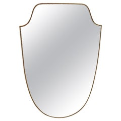 Mid Century Italian Curvilinear Wall Mirror, 1970s