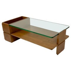 Mid Century Italian Double Shelf Coffee Table Sofa Table and Place for Books