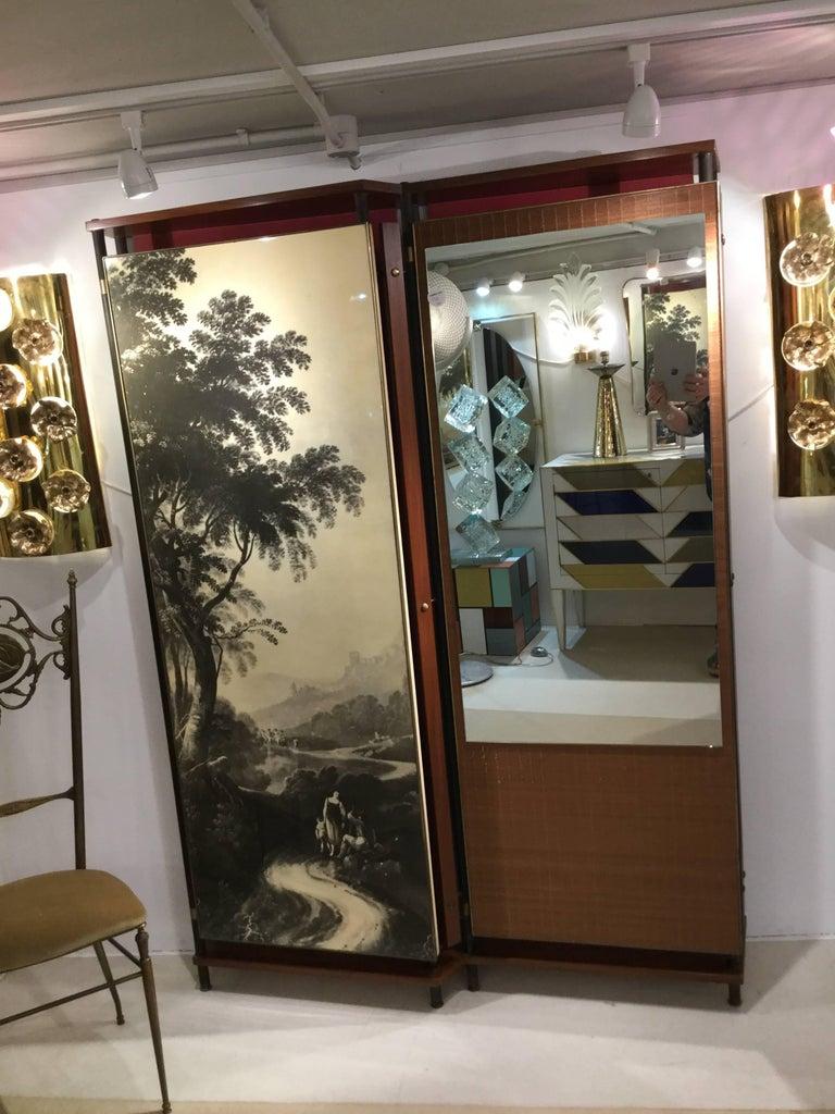 Midcentury Italian Entrance Wardrobe For Sale 1