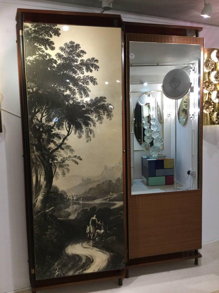 Midcentury Italian Entrance Wardrobe For Sale 2