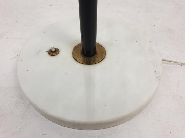 Mid-20th Century Mid Century Italian Floor Lamp with Marble Foot by Stilnovo, 1950's For Sale
