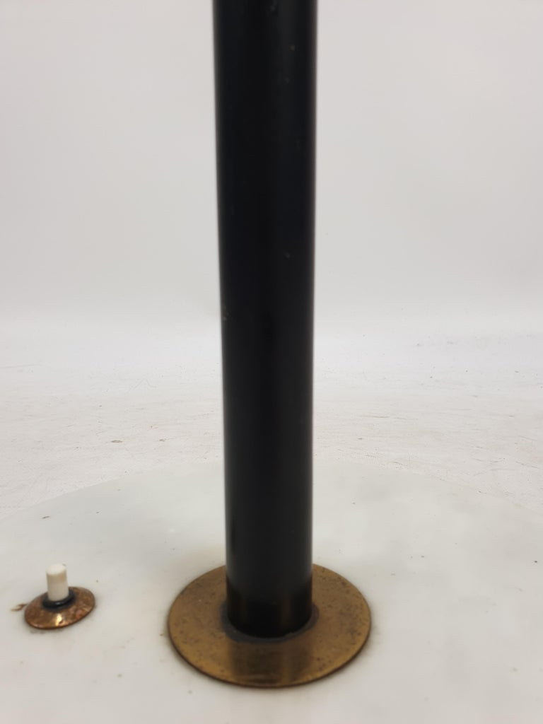 Mid Century Italian Floor Lamp with Marble Foot by Stilnovo, 1950's For Sale 1
