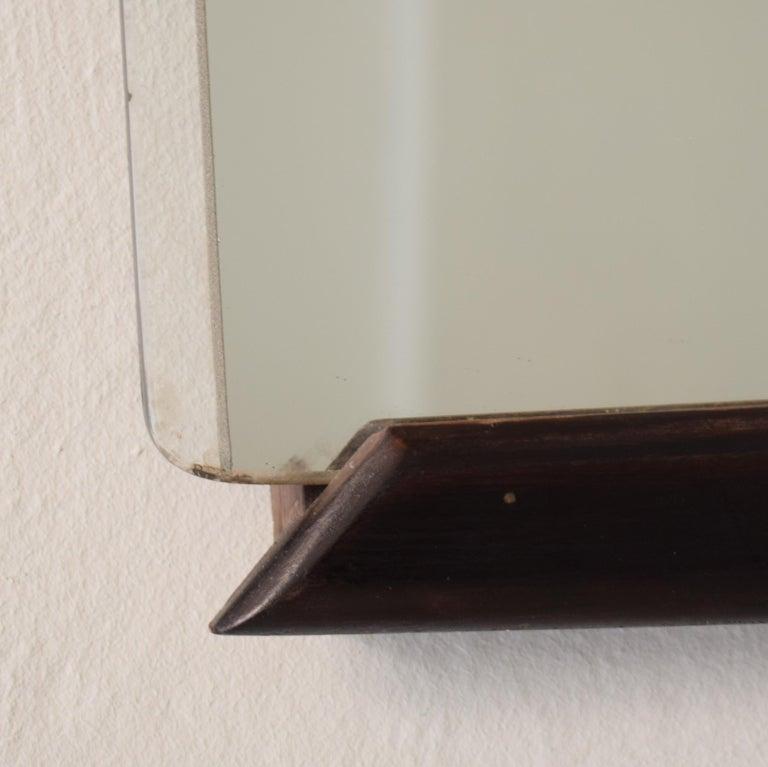 Mid-Century Modern Midcentury Italian Frameless Mirror in Original Condition, circa 1950 For Sale