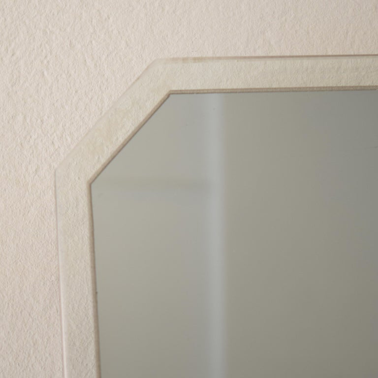 Midcentury Italian Frameless Mirror in Original Condition, circa 1950 In Good Condition For Sale In Berlin, DE
