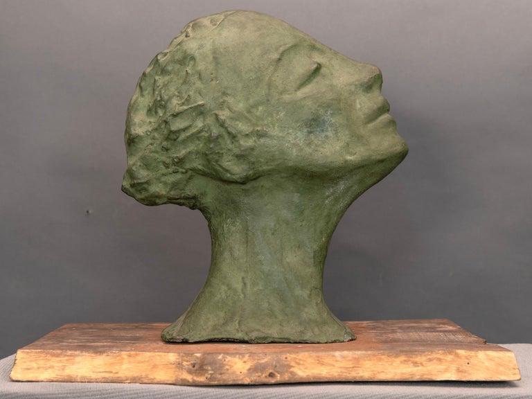 Mid-20th Century Mid-Century Italian Green Ida Fuà Plaster Sculpture For Sale