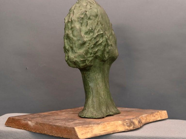 Mid-Century Italian Green Ida Fuà Plaster Sculpture For Sale 1