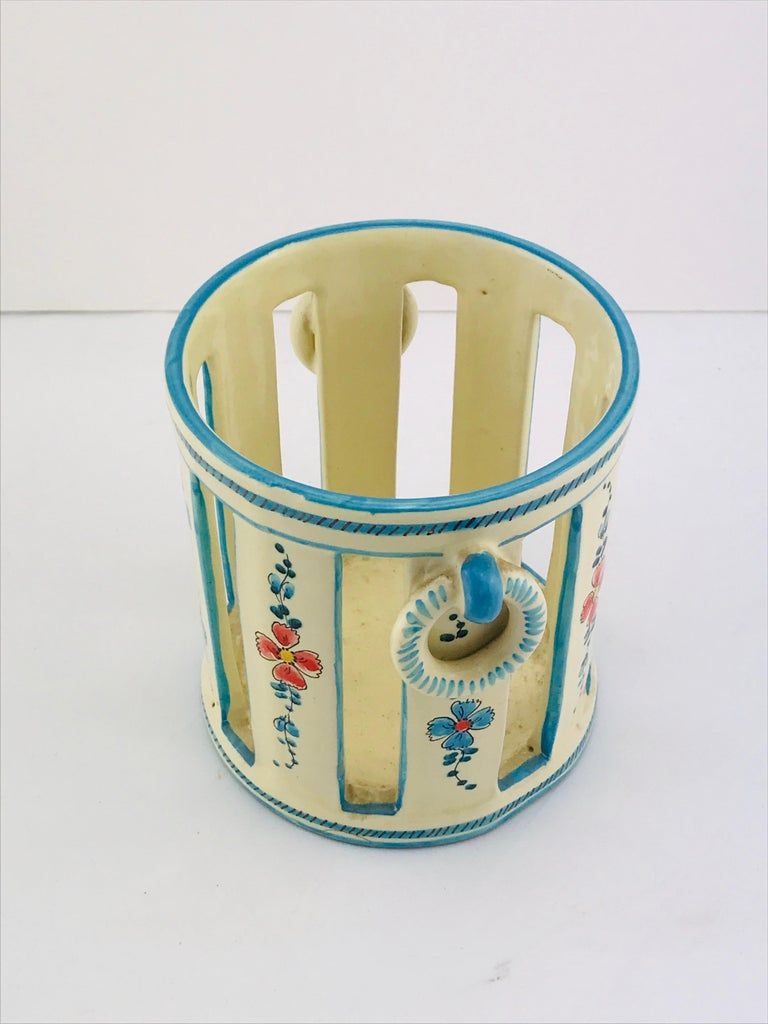 Midcentury Italian Gualdo Deruta White Ceramic Vase, 1950s For Sale 5