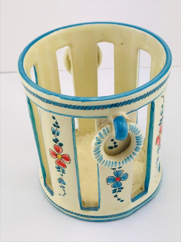 Midcentury Italian Gualdo Deruta White Ceramic Vase, 1950s For Sale 6